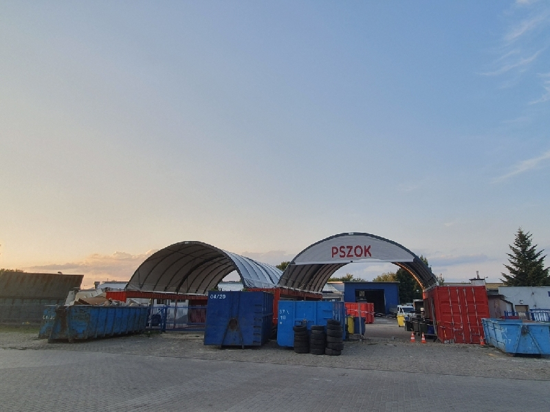 Shelter of Waste Collection Point  - Polen - PUK Piaseczno
